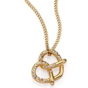 Marc by Marc Jacobs salty pretzel pendant